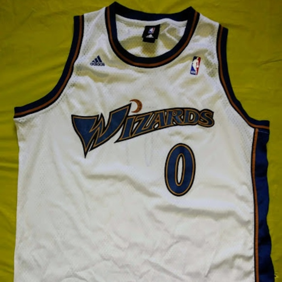 size 40 1c2af fb520 NBA Washington Wizards White Gilbert Arenas Jersey